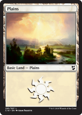 Plains (295) card from Commander 2018