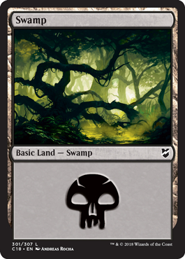 Swamp (301) card from Commander 2018