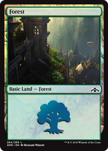 Forest card from Guilds of Ravnica