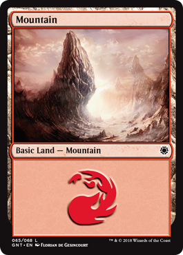 Mountain (65) card from Game Night