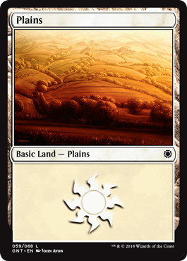 Plains (59) card from Game Night