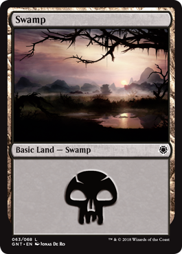 Swamp (63) card from Game Night
