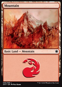 Mountain (66) card from Game Night