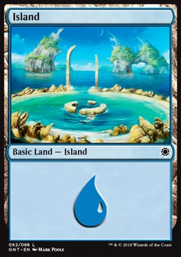 Island (62) card from Game Night