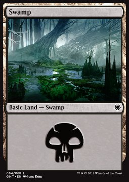 Swamp (64) card from Game Night