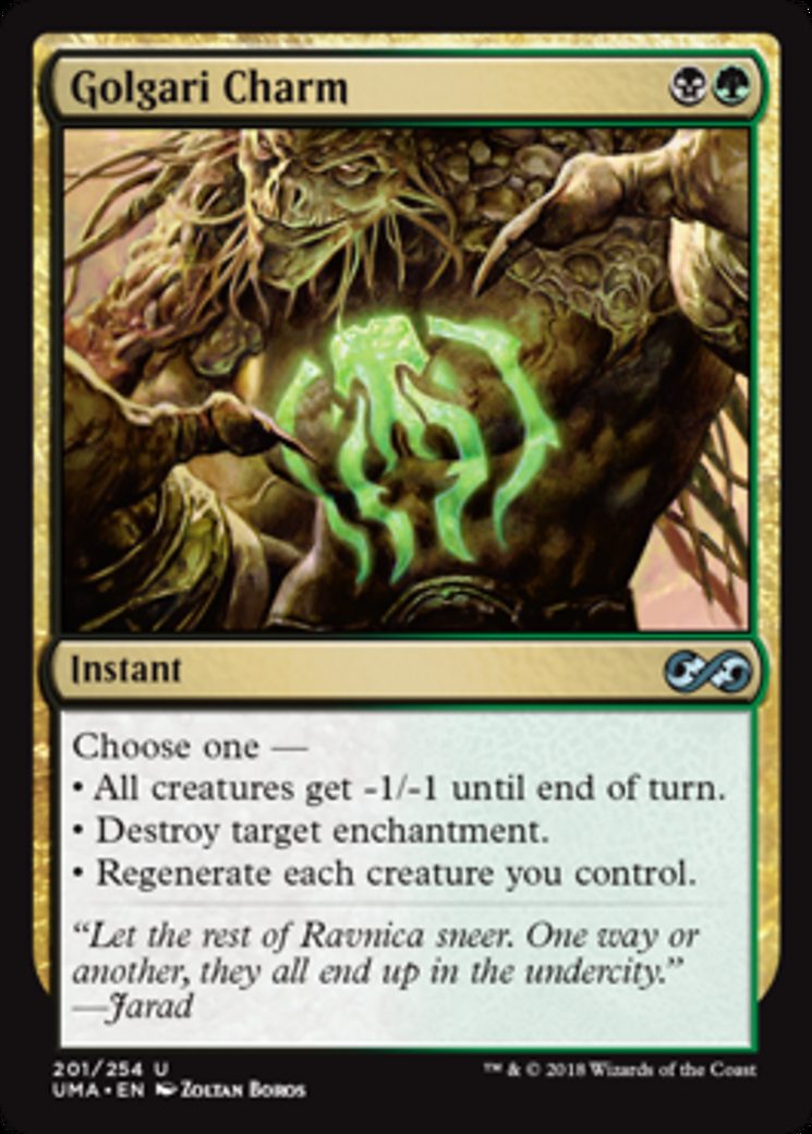 Golgari Charm card from Ultimate Masters