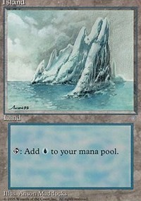 Island (334) card from Ice Age