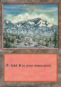 Mountain (340) card from Ice Age