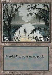 Swamp (353) card from Ice Age