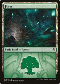 Forest (76) card from Guilds of Ravnica: Guild Kits