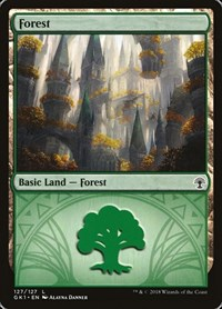 Forest (127) card from Guilds of Ravnica: Guild Kits
