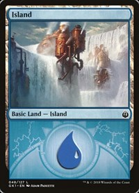 Island (48) card from Guilds of Ravnica: Guild Kits