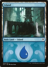 Island (24) card from Guilds of Ravnica: Guild Kits