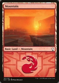 Mountain (101) card from Guilds of Ravnica: Guild Kits