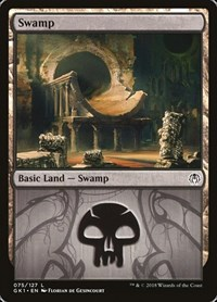 Swamp (75) card from Guilds of Ravnica: Guild Kits