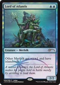 Lord of Atlantis (J18) card from Judge Promos