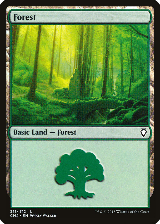 Forest (311) card from Commander Anthology Volume II