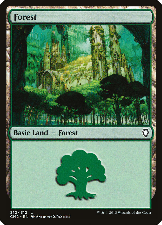 Forest (312) card from Commander Anthology Volume II