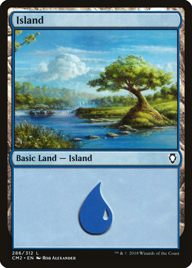 Island (286) card from Commander Anthology Volume II