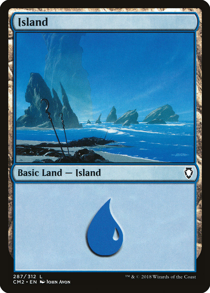 Island (287) card from Commander Anthology Volume II