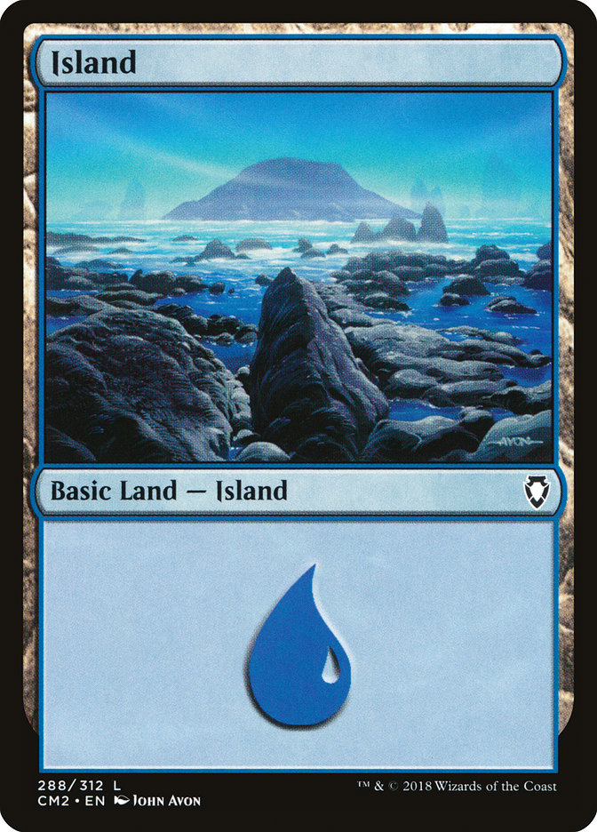 Island (288) card from Commander Anthology Volume II