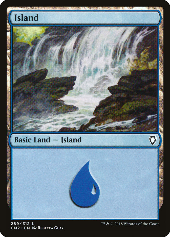 Island (289) card from Commander Anthology Volume II