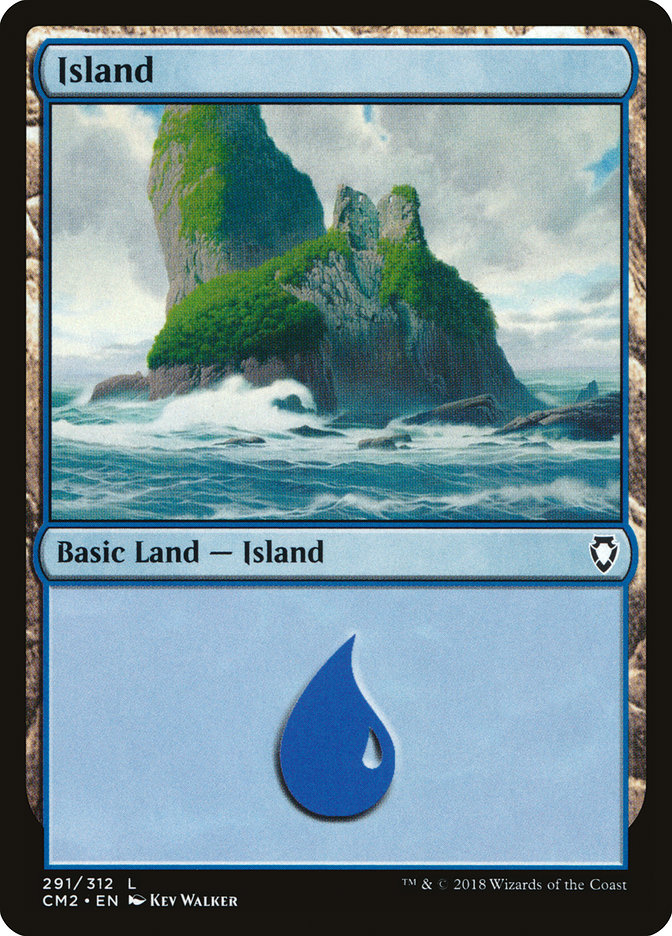 Island (291) card from Commander Anthology Volume II