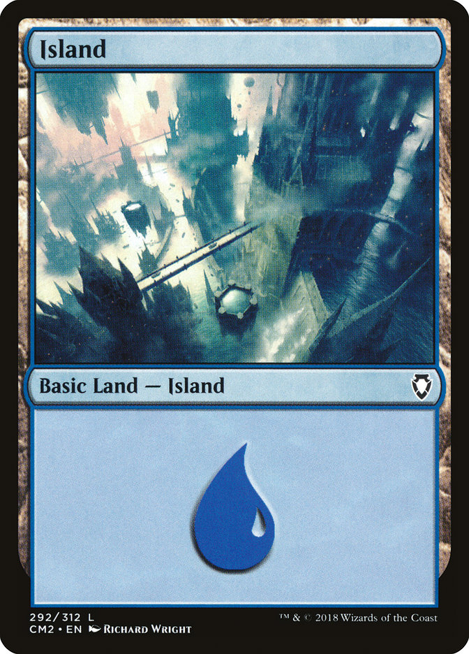 Island (292) card from Commander Anthology Volume II