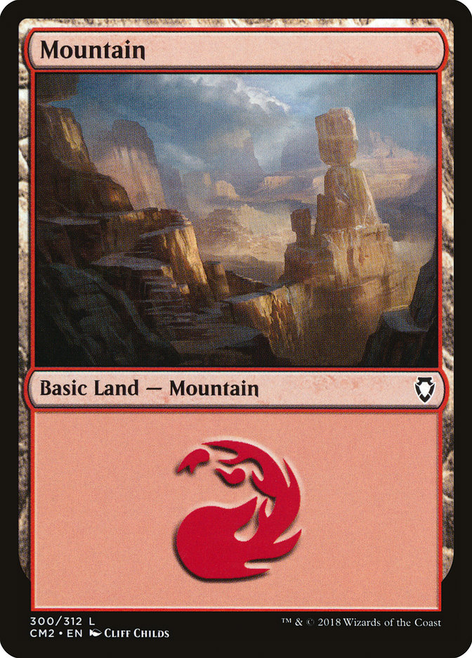 Mountain (300) card from Commander Anthology Volume II