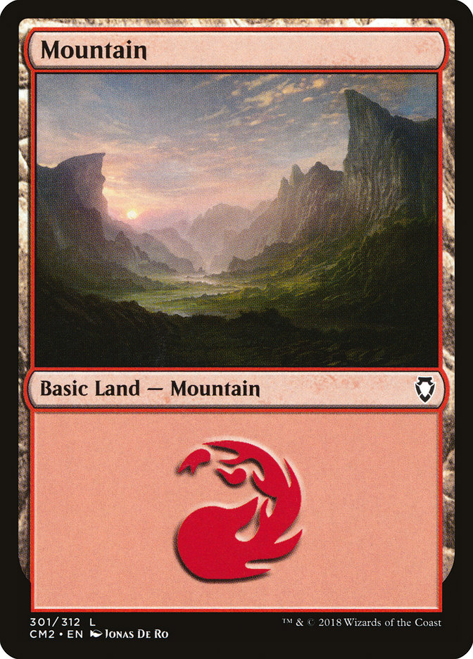 Mountain (301) card from Commander Anthology Volume II