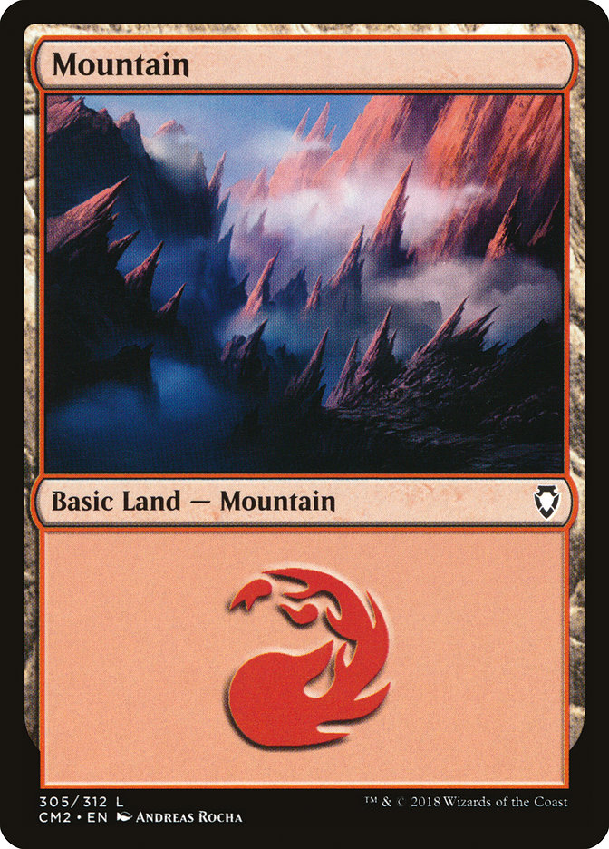 Mountain (305) card from Commander Anthology Volume II