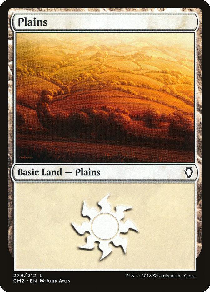Plains (279) card from Commander Anthology Volume II