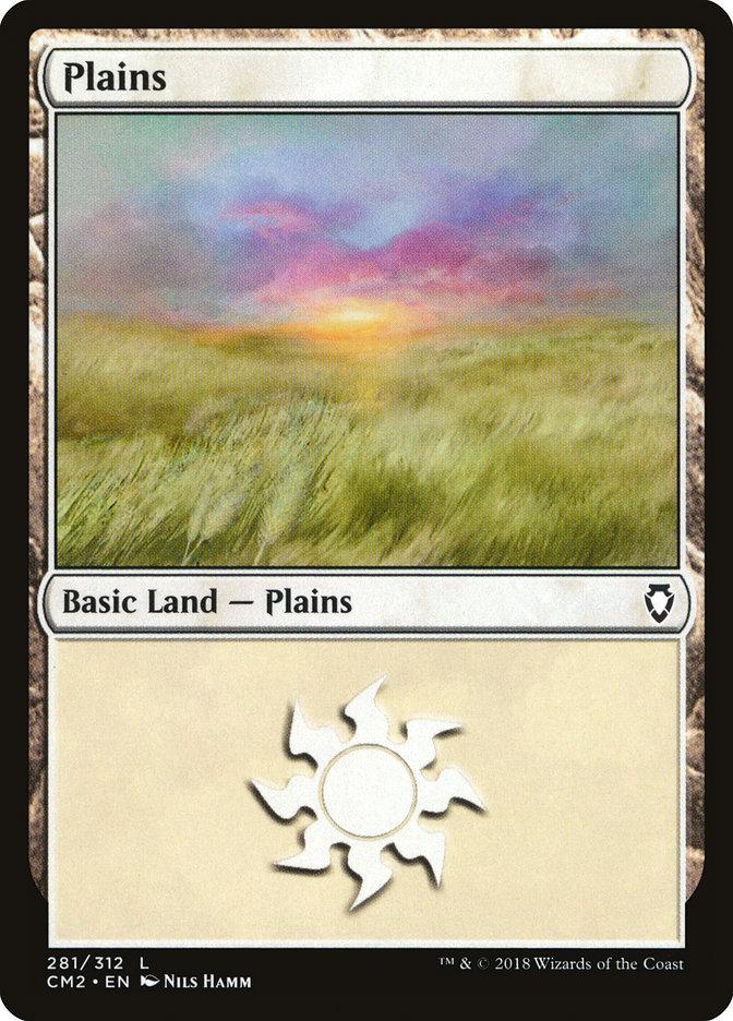 Plains (281) card from Commander Anthology Volume II