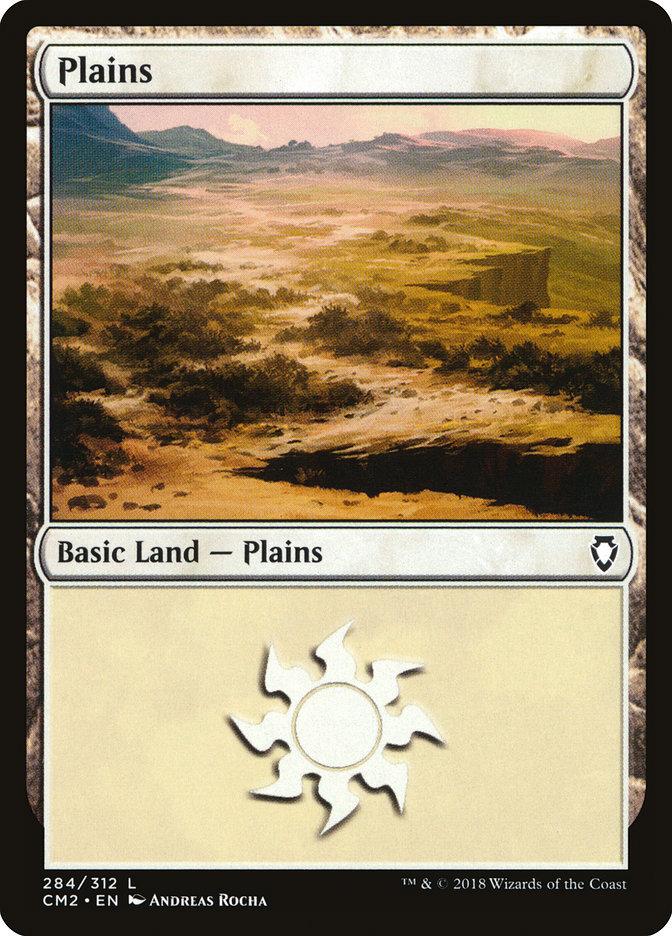 Plains (284) card from Commander Anthology Volume II