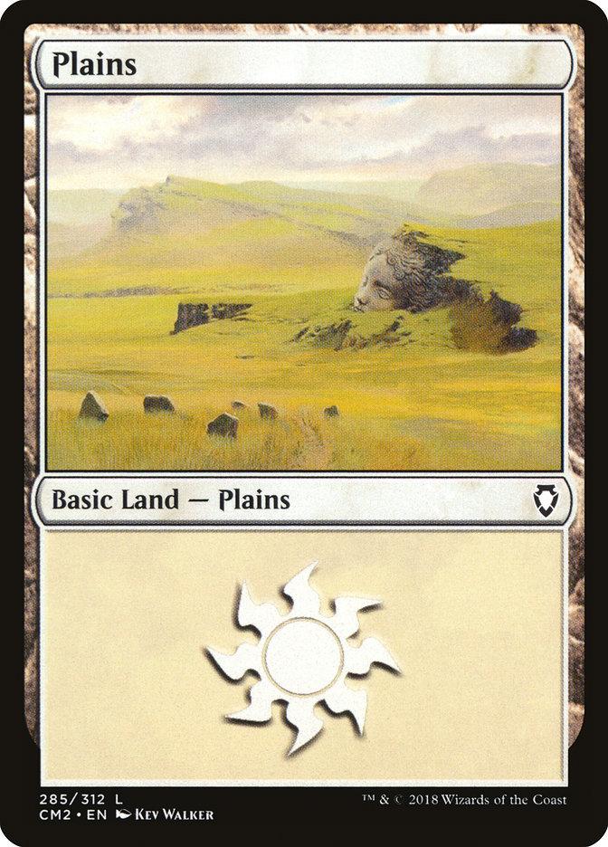 Plains (285) card from Commander Anthology Volume II
