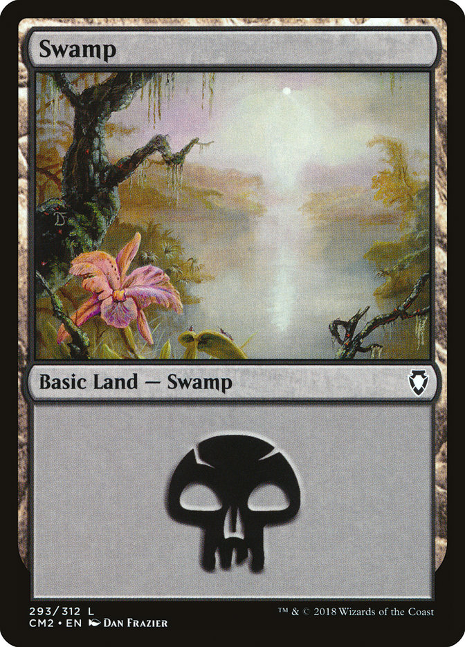 Swamp (293) card from Commander Anthology Volume II