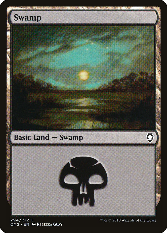 Swamp (294) card from Commander Anthology Volume II