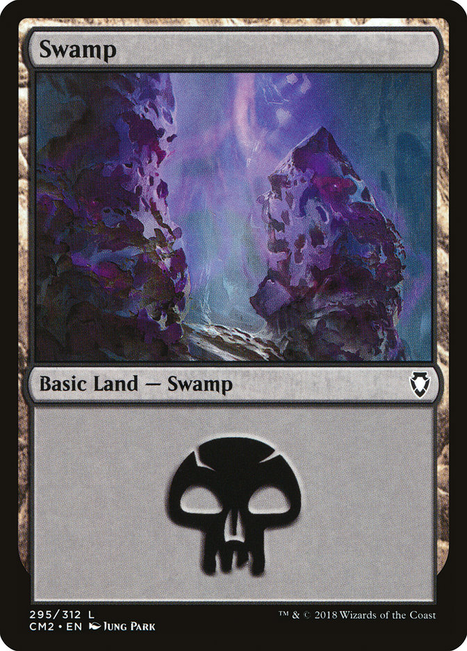 Swamp (295) card from Commander Anthology Volume II