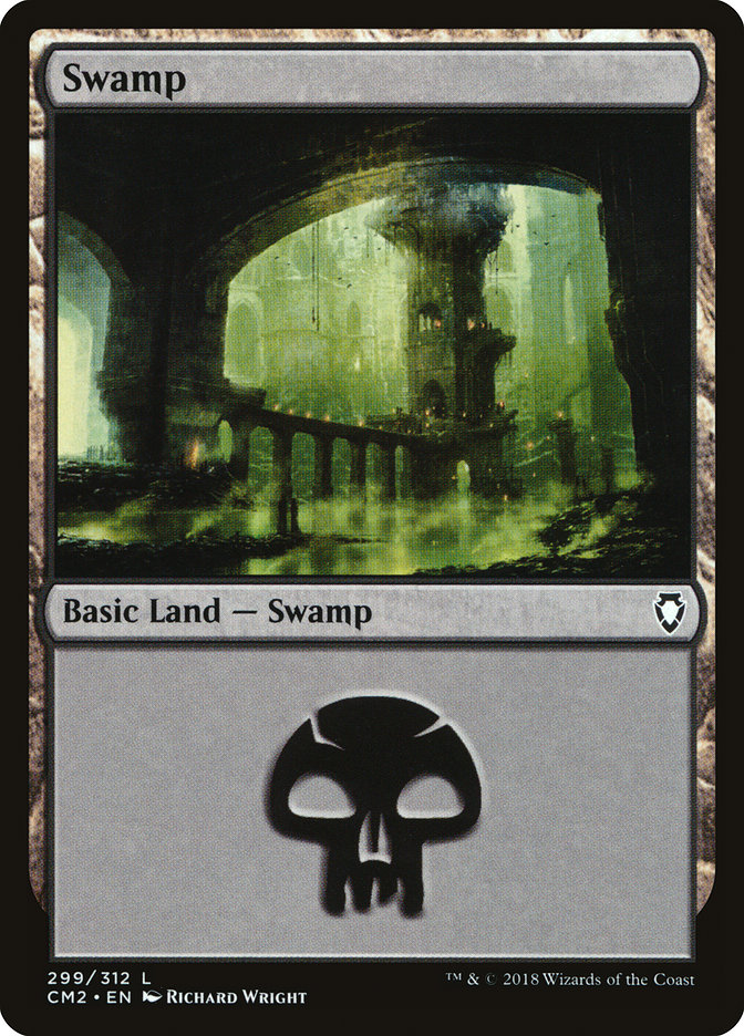 Swamp (299) card from Commander Anthology Volume II