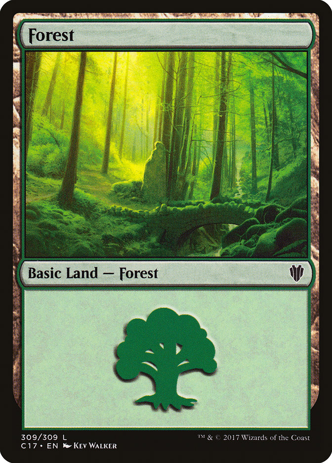 Forest (309) card from Commander 2017
