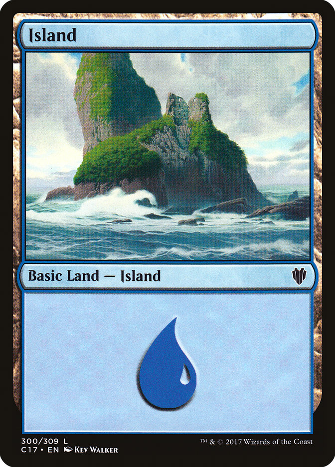 Island (300) card from Commander 2017