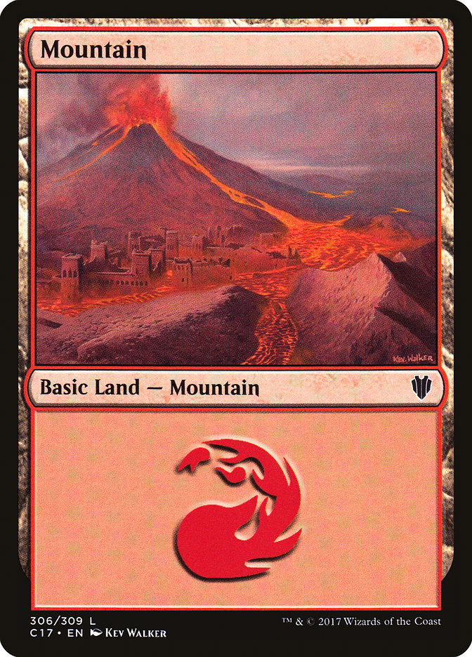 Mountain (306) card from Commander 2017