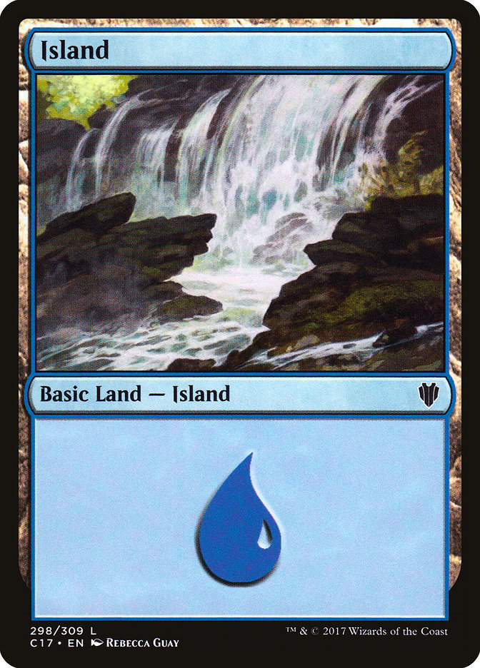 Island (298) card from Commander 2017