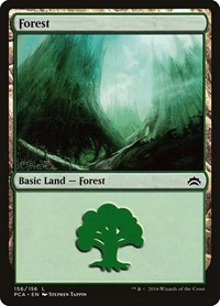 Forest (156) card from Planechase Anthology