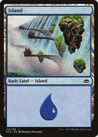 Island (141) card from Planechase Anthology