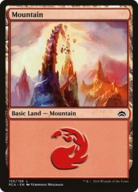 Mountain (150) card from Planechase Anthology