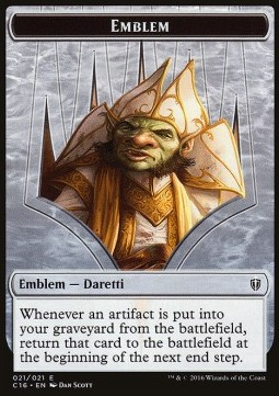 Emblem - Daretti, Scrap Savant // Thopter Double-sided Token