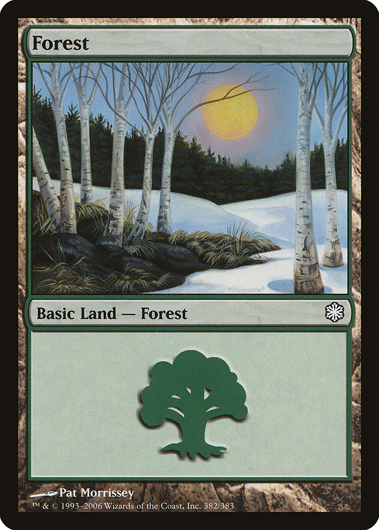 Forest (382) card from Coldsnap Theme Deck Reprints