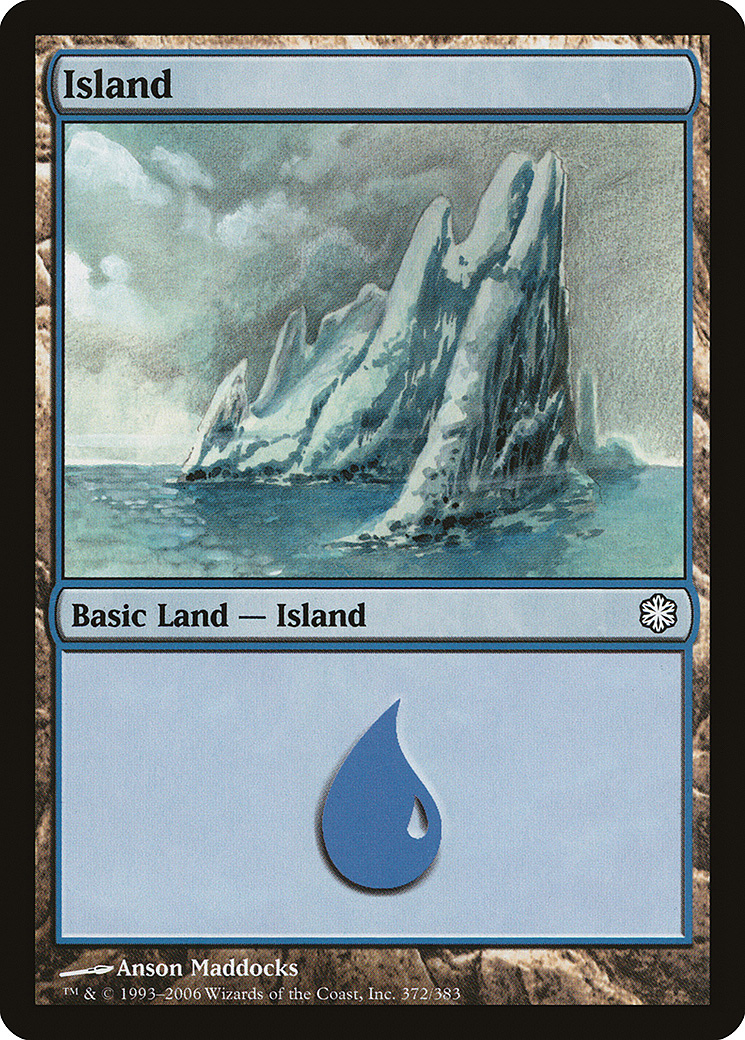 Island (372) card from Coldsnap Theme Deck Reprints