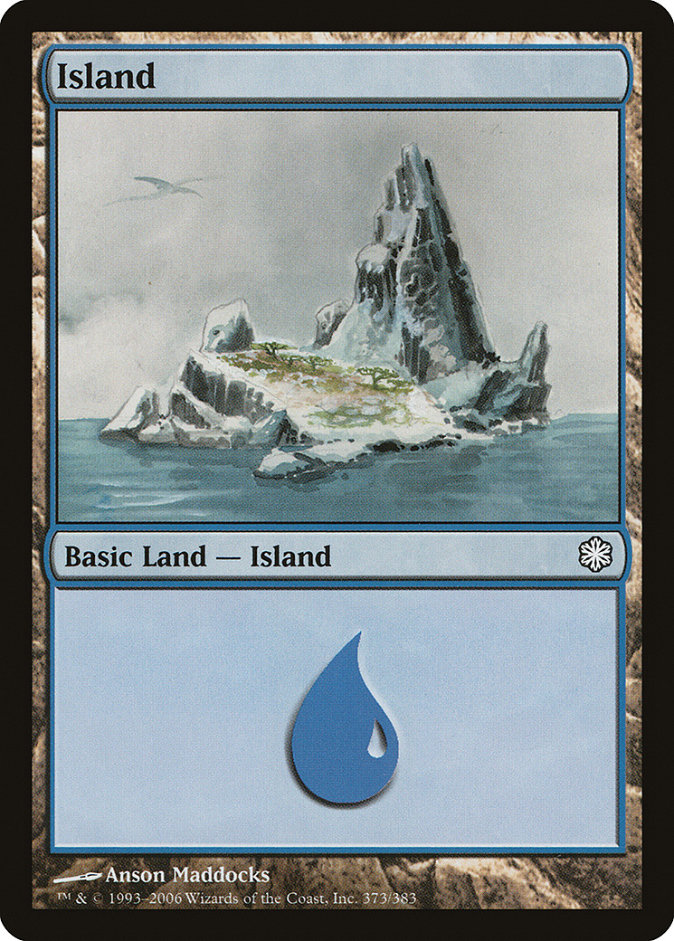Island (373) card from Coldsnap Theme Deck Reprints